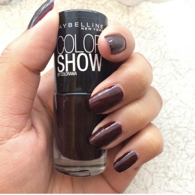 Maybelline Color Show 357 Burgundy Kiss Nail Polish 7ml.  .