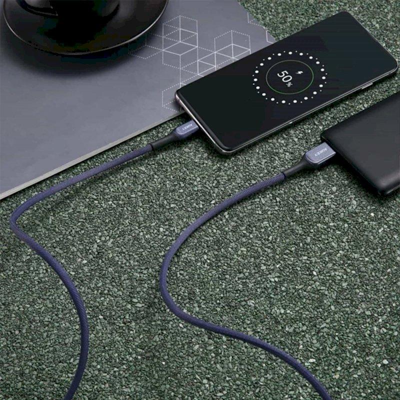 أوكي كابل كيفلر  شحن سريع 3.1  من  USB-A إلى USB-C بطول 1.2 متر