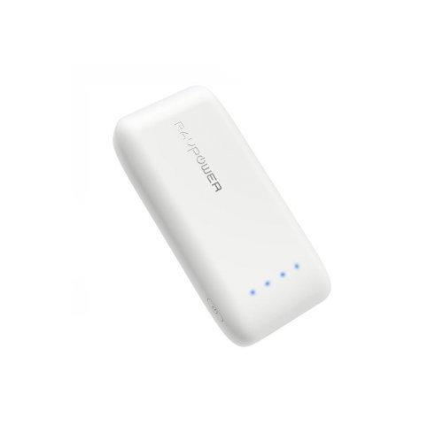 راف باور-ايس بطارية متنقلة بسعة 6700 ملي امبير بتقنية iSmart -أبيض